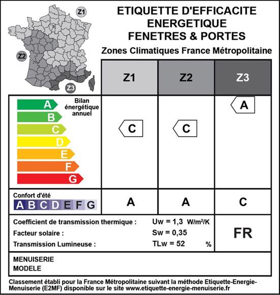 Étiquette d'efficacité énergétique