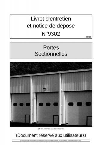 Entretien Portes Sectionnelles Plafond 9302